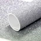 Фоамиран с блестками, 2мм, серебро, 30*20