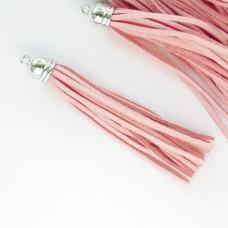 Кисточка персиково-розовая 80мм