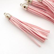 Кисточка персиково-розовая/золото 80мм