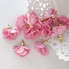Кисточка цветок, розовый, 28мм