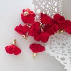 Кисточка цветок, красный, 28мм