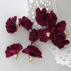 Кисточка цветок, бордовый, 28мм