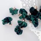 Кисточка цветок, тёмно-зелёный, 28мм