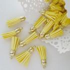 Кисточка лимонная/золото 37мм