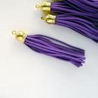 Кисточка фиолетовая/золото 80мм