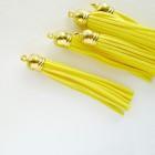 Кисточка жёлтая/золото 80мм
