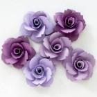 Бумажные цветы, сиреневые тона - 40мм (6шт.)