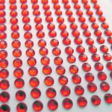 Клеевые стразы красные, d4мм, 506шт