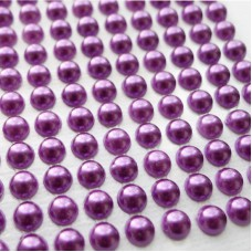 Клеевые полубусины фиолетовые, d6мм, 252шт