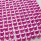 Клеевые полубусины ярко-розовые, d5мм, 396шт