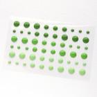 Клеевые дотсы, глянцевые, зелёные тона, d4, 6, 8мм, 54шт