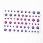 Клеевые дотсы, матовые, пурпурные тона, d4, 6, 8мм, 60шт