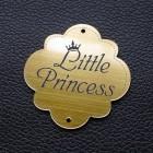 """Табличка """"Маленькая принцесса"""", золото, 50*50мм"""