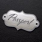 "Табличка ""Passport"", серебро, 25*50мм"