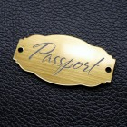 "Табличка ""Passport"", золото, 25*50мм"