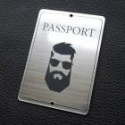 "Табличка ""Passport - мужчина"", серебро, 50*70мм"