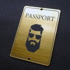 "Табличка ""Passport - мужчина"", золото, 50*70мм"