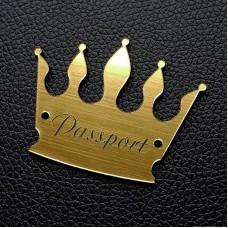 "Табличка ""Passport - корона"", золото, 40*55мм"