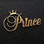 "Табличка ""Prince"", золото, 35*60мм"