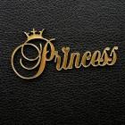 "Табличка ""Princess"", золото, 35*70мм"