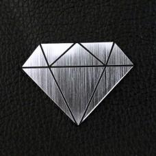 "Табличка ""Алмаз"", серебро, 40*30мм"