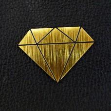 "Табличка ""Алмаз"", золото, 40*30мм"