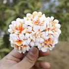 Тканевые цветочки персиковые