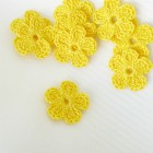 Цветочек однослойный жёлтый, 20мм